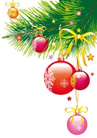 크리스마스, 새해, 된 cristmas 트리, 배경 일러스트