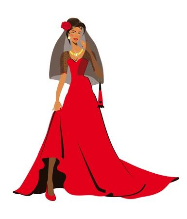 spanish fan: Carmen, woman, spanish woman, fiancee