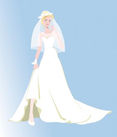 약혼녀: 약혼녀, 결혼, 결혼 생활, 흰색 드레스