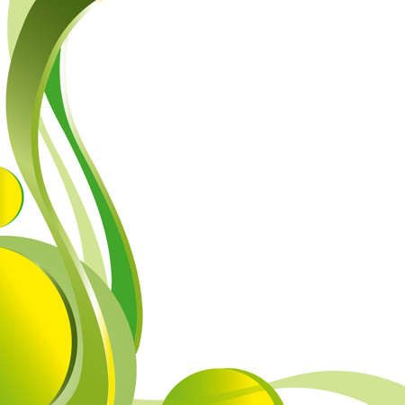 abstract background, krausens, waves green