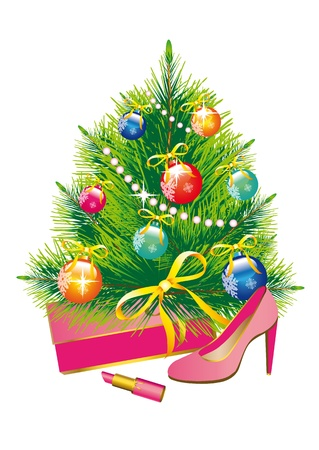 Christmas tree,Christmas, new year ,background,gifts,dream Vector