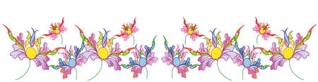 frizz pattern: flower, decorative pattern ,background