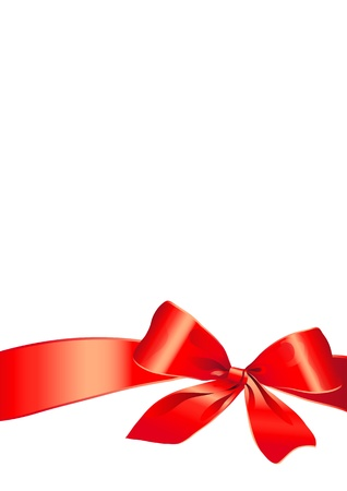 red ribbon bow: bow, red, background, Christmas