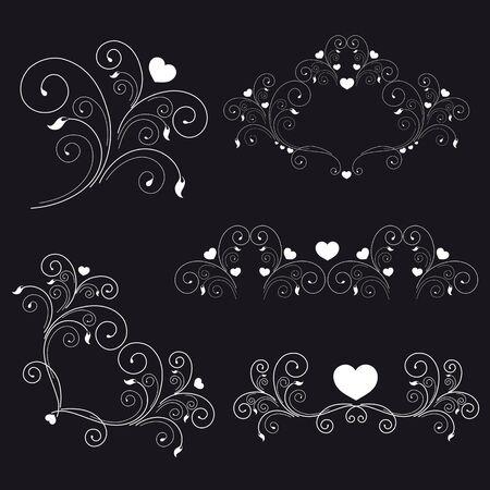 set  elegant elements and page decoration Stock Photo - 15731749