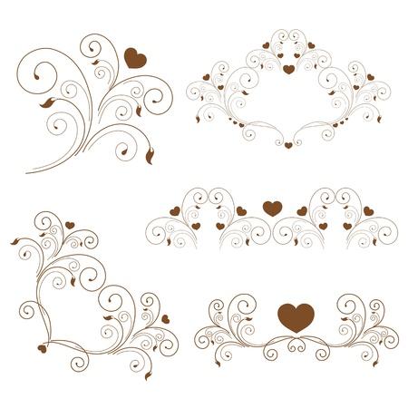 frizz: set  elegant elements and page decoration  Stock Photo
