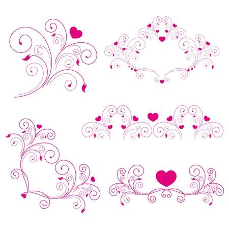 frizz pattern: set  elegant elements and page decoration  Stock Photo