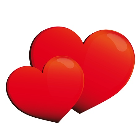 day saint valentin: heart, hearts, red, background Illustration
