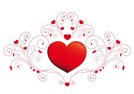 twiddle: heart, hearts, red,krausens, background Illustration