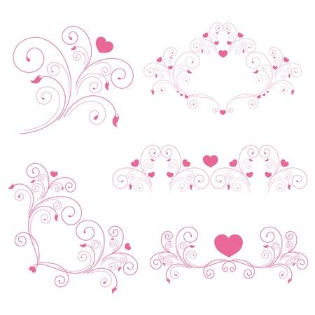 day saint valentin: heart, hearts, red,krausens, background