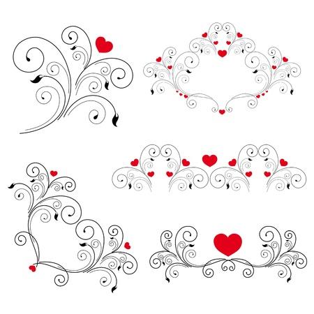 valentin day: heart, hearts, red,krausens, background