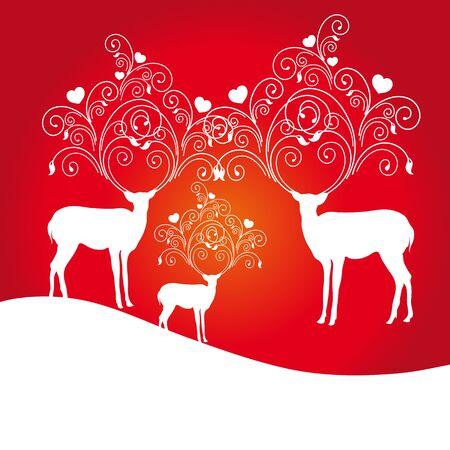 deer,red  Vector