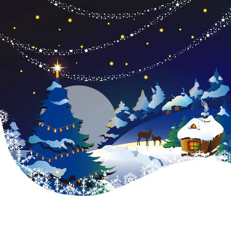 grandfather frost: Christmas, new year ,background Illustration