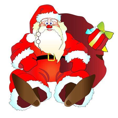 fell: Santa Claus, Christmas, new year, background Illustration