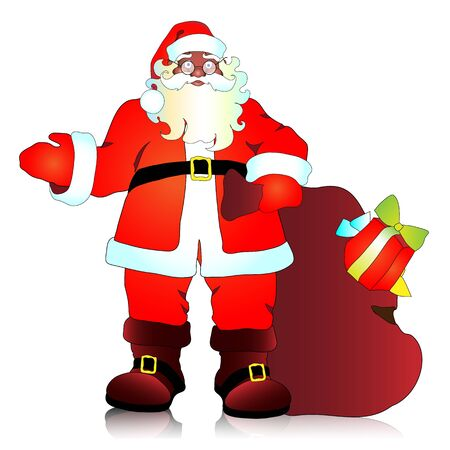 Santa Claus, Christmas, new year, background Vector