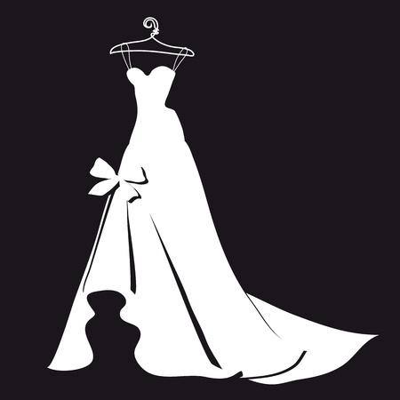 robe noire: robe de mari�e