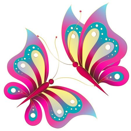 butterflies, vector