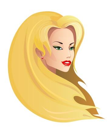 blond hair: beautiful woman vector Illustration
