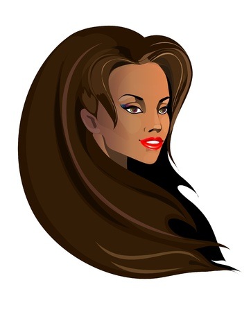 beautiful woman vector Ilustrace