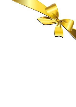 yellow ribbon: bow design vector Illustration