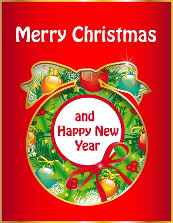 Christmas, new year ,background vector Stock Vector - 16928847