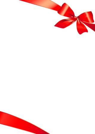 christmas menu: bow design vector Illustration