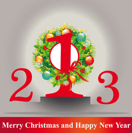 Christmas, new year ,background vector Vector