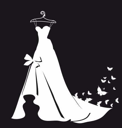 wedding dress vector Vector