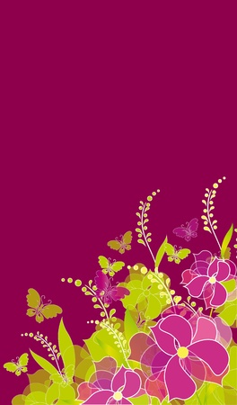 flowers card vector Vector