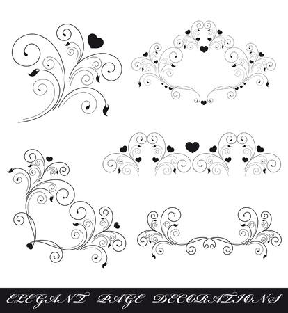 curls: heart design vector Illustration
