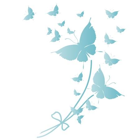 mariposa azul: mariposa, mariposas, vector