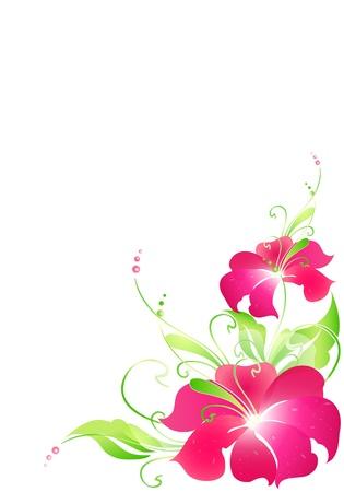 flowers card vector Stock Vector - 17472867