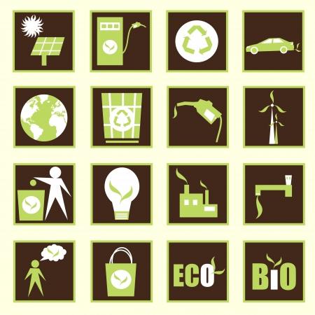 garbage bag: eco design vector set Illustration