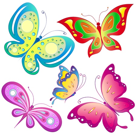 butterflies, vector Stock Vector - 17820272