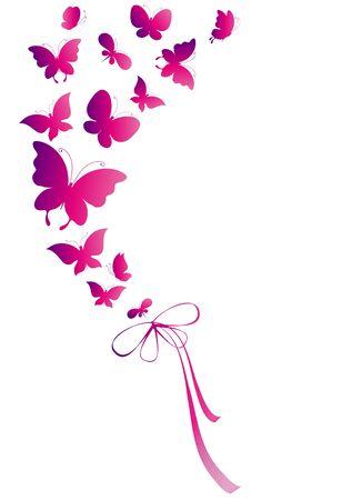 pink butterfly: butterflies, vector