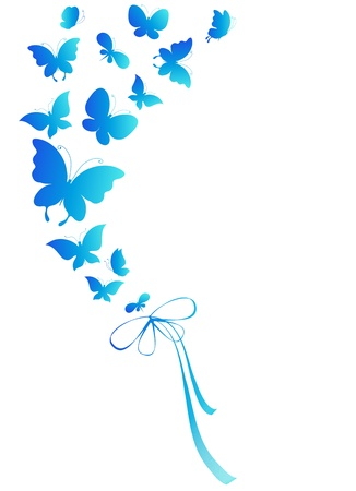 butterflies, vector Stock Vector - 17820269