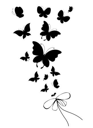 butterflies, vector Stock Vector - 17820268