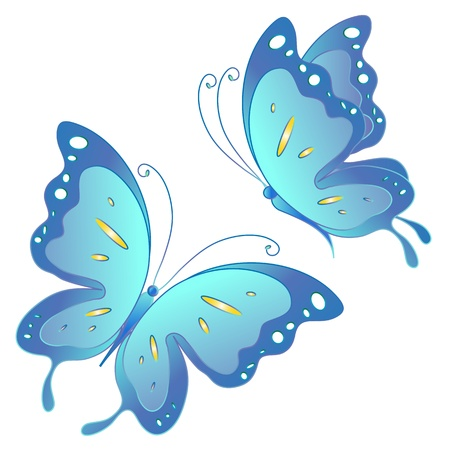 butterflies, vector Stock Vector - 17820271