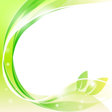 green swirl: abstract waves vector