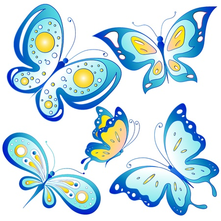 butterflies, vector Stock Vector - 17820289