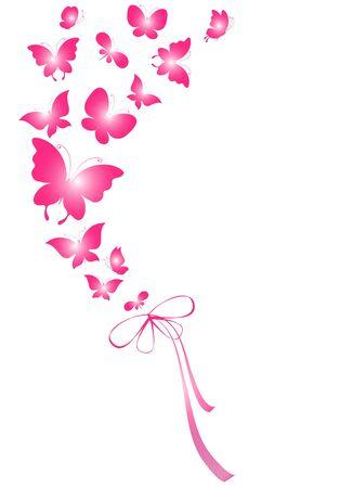 papillon rose: papillons, vecteur