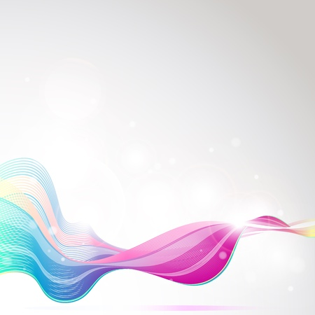 abstract waves vector Vector