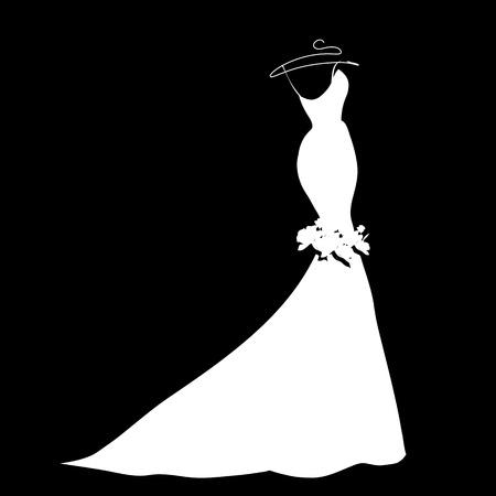 ウェディングドレス: 結婚式ドレスのベクトル  イラスト・ベクター素材