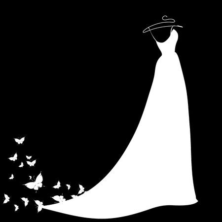 wedding dress vector Ilustração