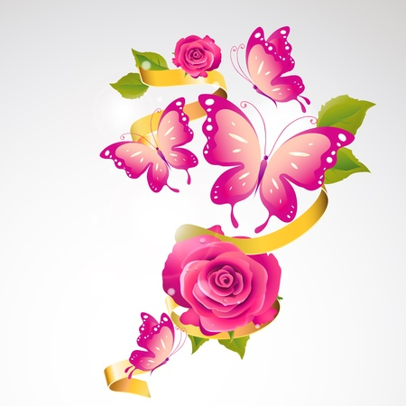 flowers card Vector