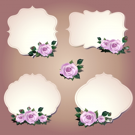 violet red: flowers card