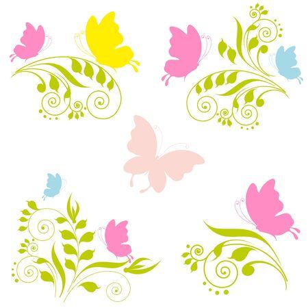 pink butterfly: butterfly, butterflies, vector
