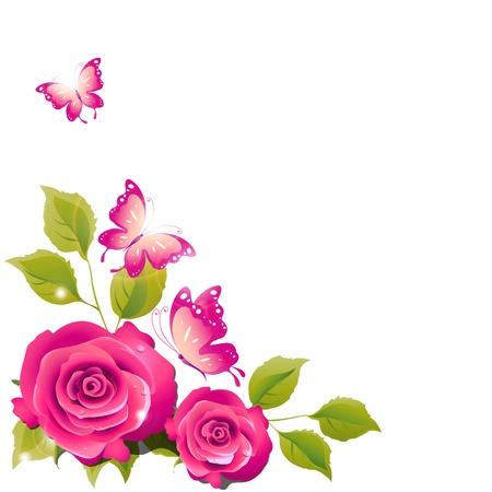 flowers card vector
