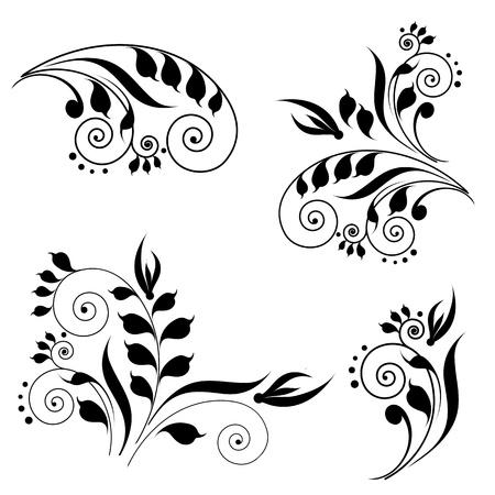 소용돌이 모양 디자인 일러스트
