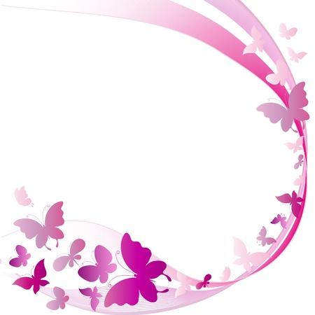 papillon rose: papillons