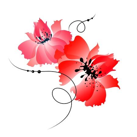 carte de fleurs Vecteurs